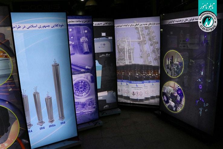 لایت باکس ایستاده انرژی هسته ای